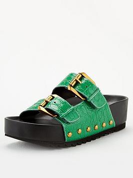 Kurt Geiger London Kurt Geiger London Deven Flat Sandals - Green Picture
