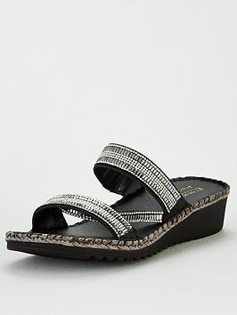 Carvela Carvela Sula Wedge Sandals - Black Picture