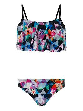 Monsoon Monsoon Girls Storm S.E.W. Eliza Print Bikini - Black Picture