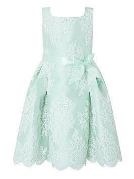 Monsoon Girls Valeria Mint Lace Dress - Mint