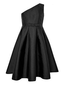 Monsoon Monsoon Girls Connie Shoulder Prom Dress - Black Picture