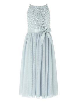 Monsoon Monsoon Girls Truth Sequin Maxi Dress - Grey Picture
