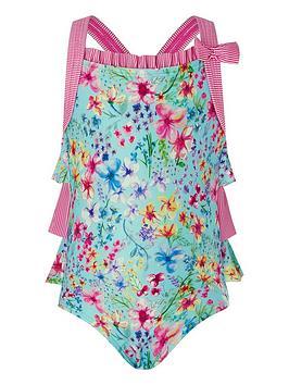 Monsoon   Baby Amberley Swimsuit - Turquoise