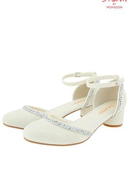 Monsoon Monsoon Girls Storm Summer Dazzle Trim Two Part Shoe - Ivory Picture