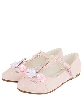 Monsoon Monsoon Girls Lola Unicorn Ballerina - Pale Pink Picture