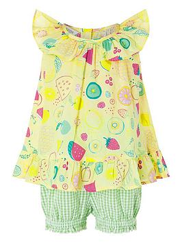 Monsoon   Baby Berry Top And Shorts Set - Yellow