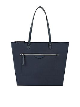 Accessorize   Emily Nylon Tote Bag - Navy