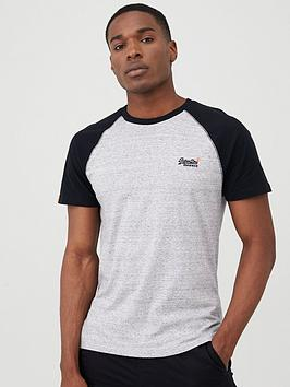 Superdry Superdry Orange Label Classic Baseball T-Shirt - Grey Marl Picture