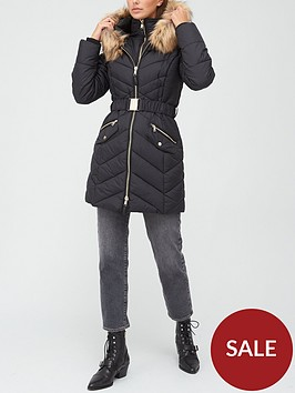 v-by-very-premium-double-placket-padded-coat-with-belt-black