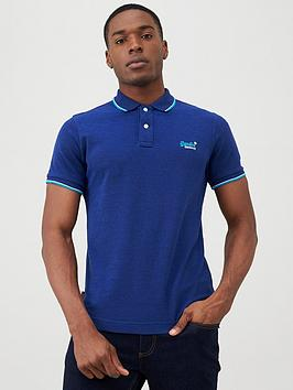 Superdry Superdry Poolside Pique Polo Shirt - Dark Navy Picture