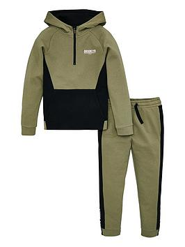 V by Very V By Very Boys Colour Block Tape Trim Hoodie And Jogger Set -  ... Picture