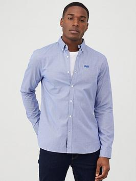 Superdry Superdry Classic London Gingham Shirt - Blue Picture