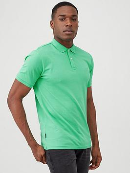 Superdry Superdry Classic Micro Lite Pique Polo Shirt - Green Picture