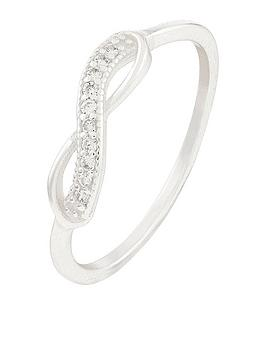 Accessorize Accessorize St Infinity Ring - Silver Picture
