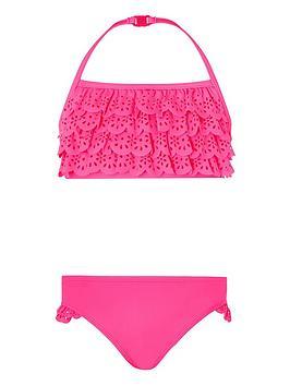 Monsoon Monsoon Girls Rosie Ruffle Bikini - Pink Picture