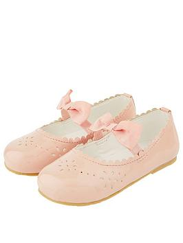 Monsoon Monsoon Baby Girls Paisley Patent Walker Shoes - Pale Pink Picture