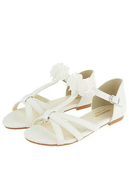 Monsoon Monsoon Girls Ariah Ivory Corsage Sandal - Ivory Picture