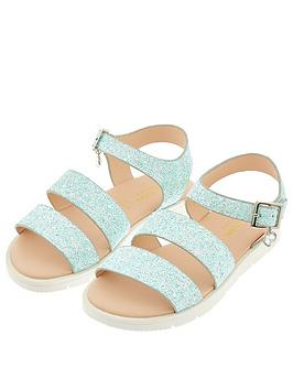 Monsoon Monsoon Girls Edie Frosted Glitter Sandal - Mint Picture