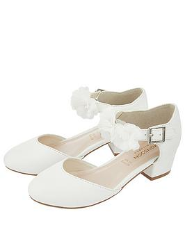 Monsoon Monsoon Girls Macaroon Corsage Two Part Shoes - Ivory Picture