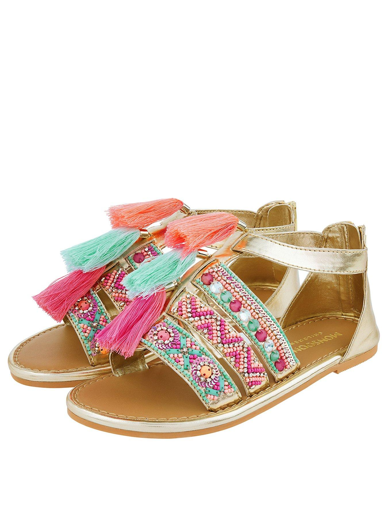Start-rite Summer Shimmer Girls Multi-Metallic Sandal