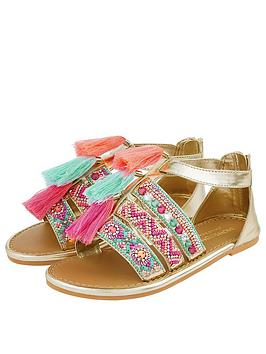 Monsoon Monsoon Girls Lana Tassel Bright Beaded Sandals - Multi Picture