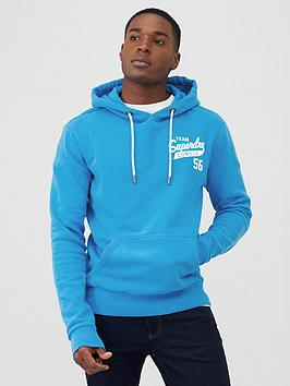 Superdry Superdry Classic Script Overhead Hoodie - Electric Blue Picture