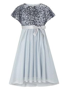 Monsoon Monsoon Girls Truth Cape Sequin Maxi Dress - Blue Picture