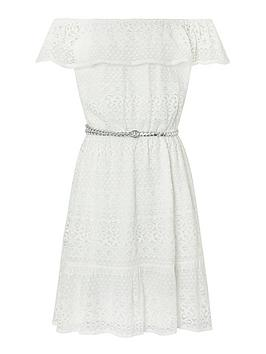 Monsoon Monsoon Girls Storm Leah Lace Dress - Ivory Picture