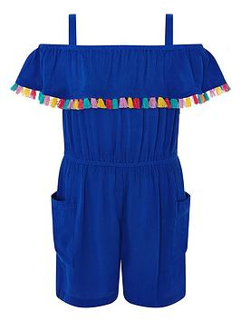 Monsoon Monsoon S.E.W Marley Playsuit - Blue Picture