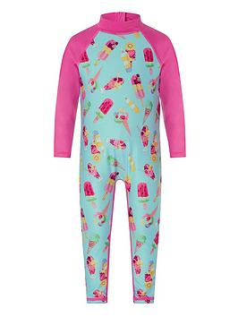Monsoon Monsoon Baby Girls S.E.W Erica Sunsafe All In One - Turquoise Picture
