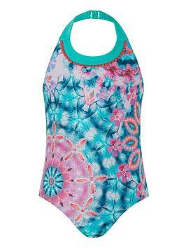 Monsoon Monsoon Girls S.E.W Kit Tie Dye Swimsuit - Navy Picture