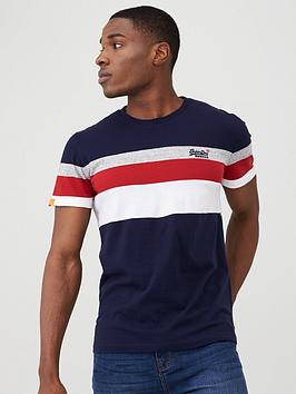 Superdry Superdry Orange Label Classic Stripe T-Shirt - Navy Picture