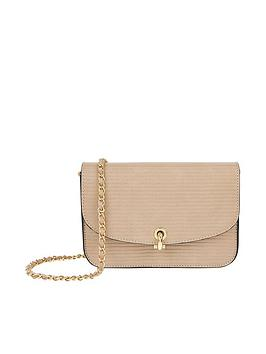 Accessorize   Edie Cross Body - Nude
