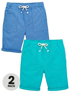 V by Very V By Very Boys 2 Pack Shorts - Blue/Green Picture