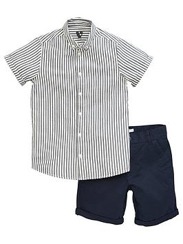 V by Very V By Very Boys 2 Piece Shirt And Shorts Set - Multi Picture