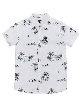 V by Very V By Very Boys Short Sleeve Printed Shirt - Multi Picture