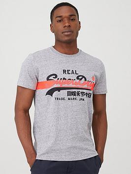Superdry Superdry Vintage Label Cross Hatch T-Shirt - Dark Grey Picture