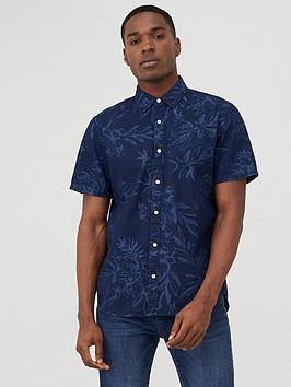 Superdry Superdry Miami Loom Printed Short Sleeve Shirt - Navy Picture