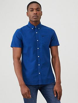Superdry Superdry Classic University Oxford Short Sleeve Shirt - Blue Picture