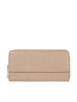 Accessorize Accessorize Large Zip Around Wallet - Nude Picture