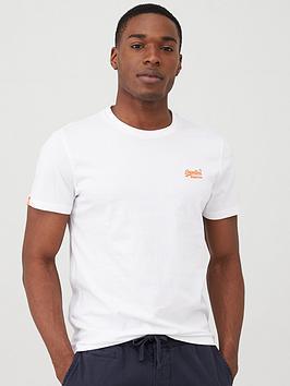 Superdry  Orange Label Neon Lite T-Shirt - White