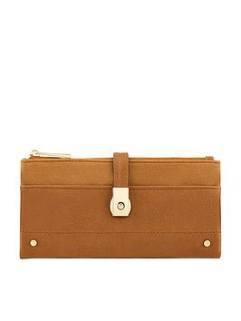 Accessorize   Flip Lock Wallet - Tan
