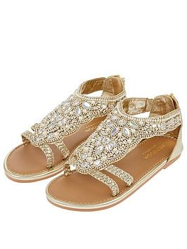 Monsoon Monsoon Valencia Beaded Scallop Sandal - Gold Picture