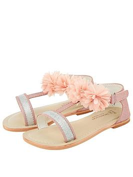 Monsoon Monsoon Baby Girls Cleo Corsage Walker Sandals - Pale Pink Picture