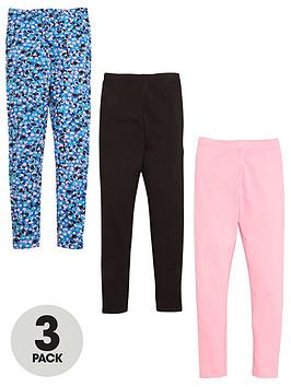 V by Very V By Very Girls 3 Pack Legging - Multi Picture