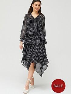 v-by-very-polka-dot-tiered-midaxi-dress-black-spot