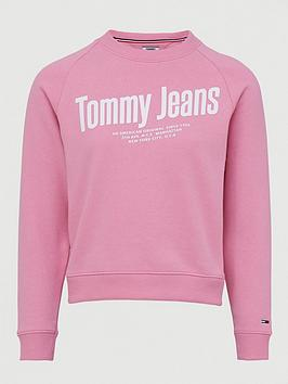 Tommy Jeans Tommy Jeans Chest Logo Sweat Shirt - Pink Picture