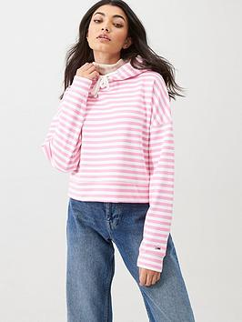 Tommy Jeans Tommy Jeans Stripe Hoodie - Pink Picture
