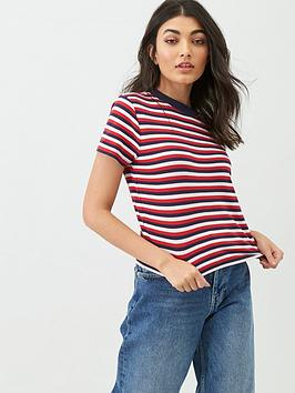 tommy-jeans-contrast-rib-collar-baby-t-shirt-red