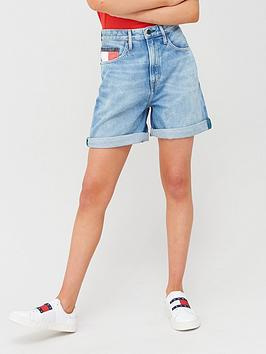 Tommy Jeans Tommy Jeans High Rise Mom Shorts - Blue Picture